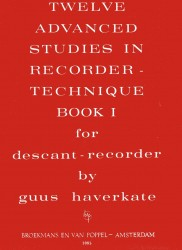 12 Advanced Studies in Recorder Technique Book 1.