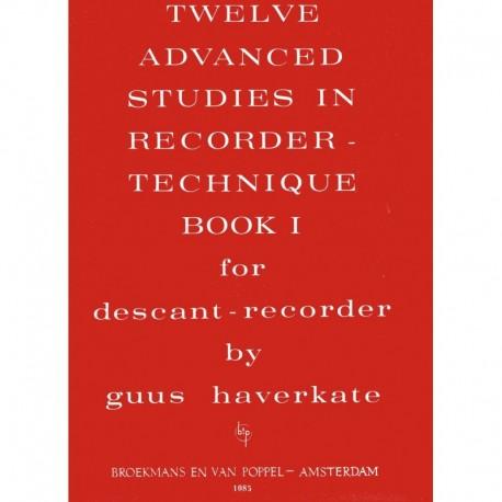 12 Advanced Studies in Recorder Technique Book 1.