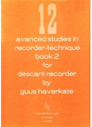 12 Advanced Studies in Recorder Technique Book 2.
