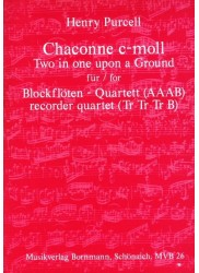 Chaconne C minor Two in One upon a ground