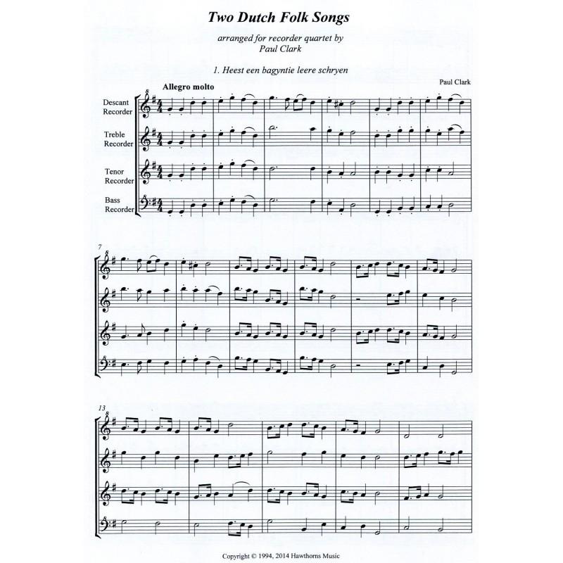 Two Dutch Folk Songs