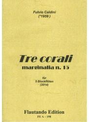 Tre corali, marginalia n.15