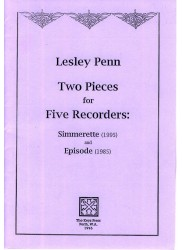 Two Pieces for 5 recorders