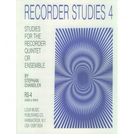 Recorder Studies 4: Studies for the Recorder Quintet
