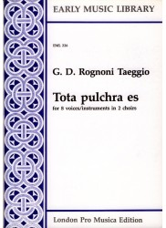 Tota pulchra es for 8 voices or instruments in 2 choirs