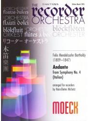 Andante from Symphony no 4 (Italian)