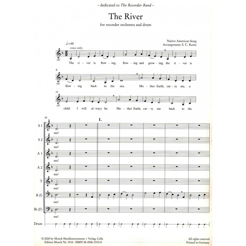 The River: Native American Song - Orpheus Music