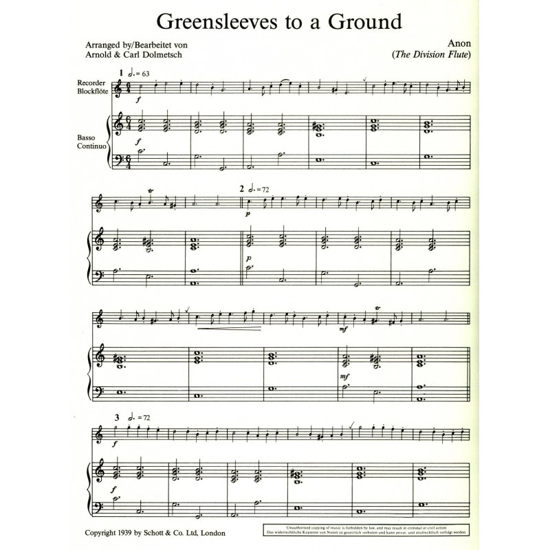 Greensleeves to a Ground - Orpheus Music