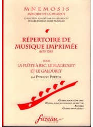 Repertoire of Printed Music (1670-1780) for the Recorder, Flageolet and the Galoubet