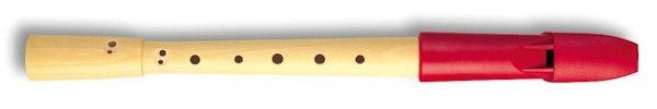 Prima Descant Recorder, Pearwood body/ Red Plastic headjoint