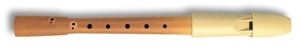 Prima Descant Recorder, Pearwood body/ Beige Plastic headjoint