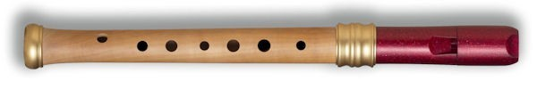 Adri's Dream Descant (Single holes), Pearwood body/Red glitter headjoint