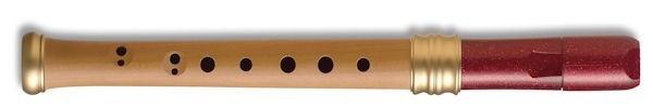 Adri's Dream Descant Recorder, Pearwood body/Red glitter headjoint