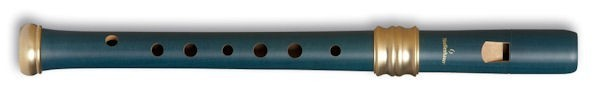 Adri's Dream Descant Recorder (Single holes), Blue Pearwood