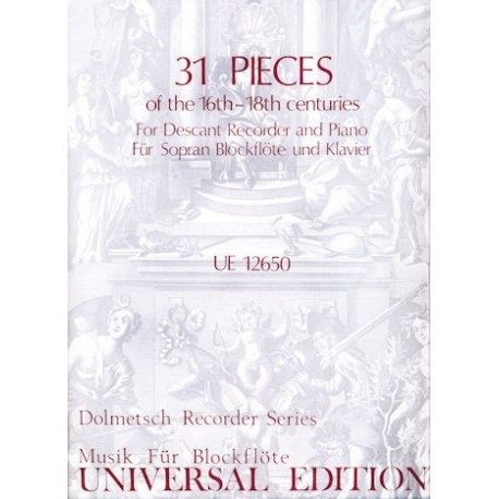 31 Pieces of the 16th-18th centuries