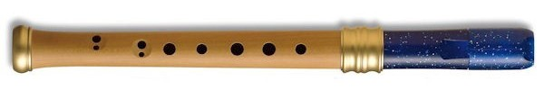 Adri's Dream Descant Recorder, Pearwood body/Blue Glitter Plastic headjoint