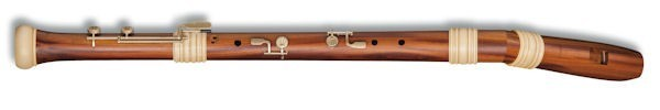 Dream-Edition Knick Bass  Recorder in Plumwood