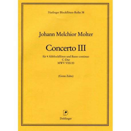 Concerto III C Major MWV VIII/20