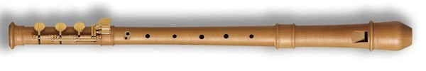 Modern Treble Recorder (E-foot) in Pearwood
