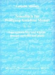 Notebook for Wolfgang Amadeus Mozart