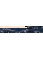 Contrabass Recorder in Birch/Blue Wave