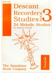 Descant Recorder Studies Book 3: 24 Melodic Studies