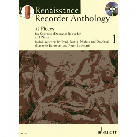 Renaissance Recorder Anthology Grade Volume 1 with CD