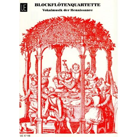 Blockflutenquartette Vokalmusik der Renaissance, Vol 1 - Recorder Quartets Vocal Music of the Renaissance