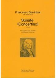 Sonate (Concertino) in e minor
