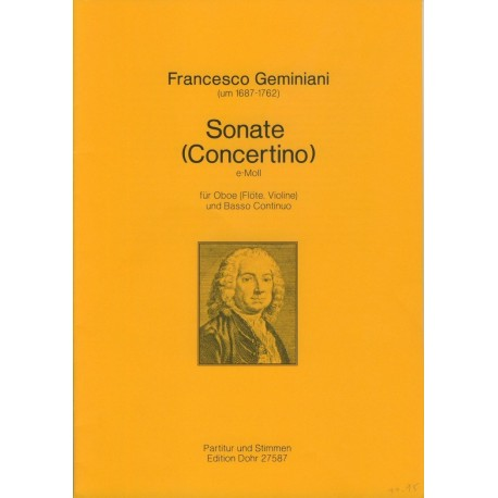 Sonate (Concertino) in e minor