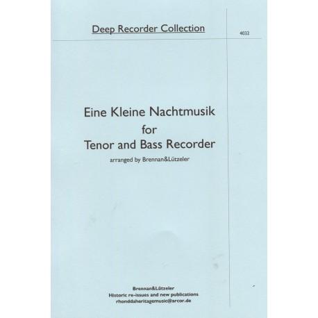 Eine kleine Nachtmusik for Tenor and Bass Recorder