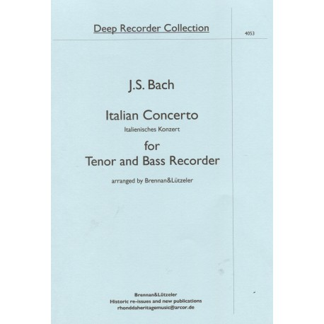 Italian Concerto for Tenor and Bass Recorder
