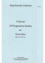 25 Progressive Studies for Great Bass Recorder
