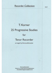 25 Progressive Studies for Tenor Recorder