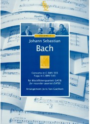 Concerto in C BWV 595 and Fuga in C BWV 545