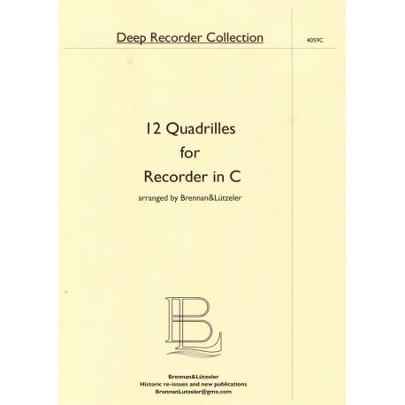 12 Quadrilles for Recorder in C