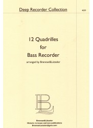 12 Quadrilles for Bass Recorder