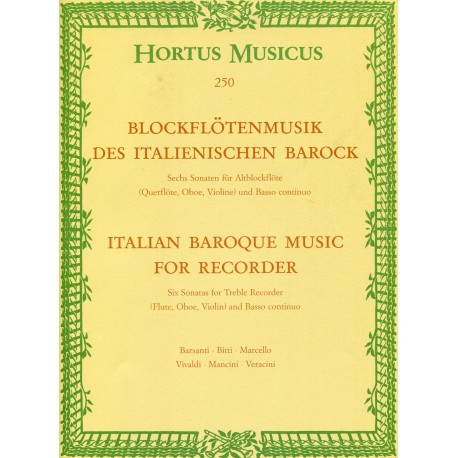 Italian Baroque Music for Recorder
