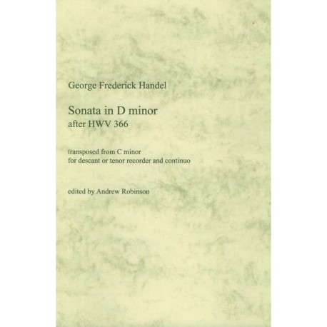 Sonata in d minor after HWV 366
