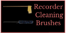 Recorder Cleaning Brushes